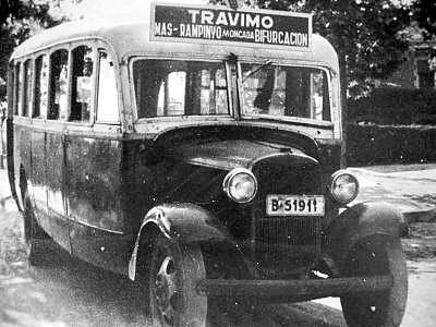 TRAVIMO: antic BUS entre Mas Rampinyo i Bifurcació