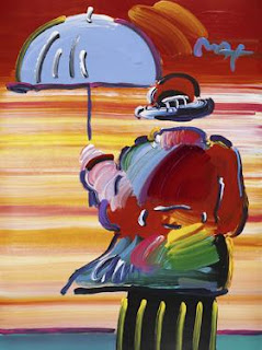 Umbrella Man. Peter Max.