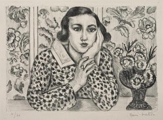 Young Girl Leaning on Her Elbows in front of Flowered Screen (1923). Henri Matisse. ©2009 Succession H. Matisse/Artists, Rights Society (ARS), New York, Courtesy American Federation of Arts.