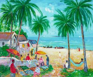Cabanes de Pecheurs aux Caraibes by Jean-Claude Picot