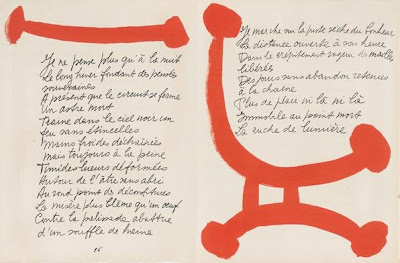 Pablo Picasso, pages 86-87 from Pierre Reverdy's Le chant des morts (The Song of the Dead). Published by Tériade, Paris, 1948. © 2008 Estate of Pablo Picasso/Artists Rights Society (ARS), New York.