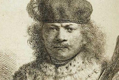 Rembrandt van Rijn. Self-portrait as an oriental Potentate with a Kris (detail). 1634.