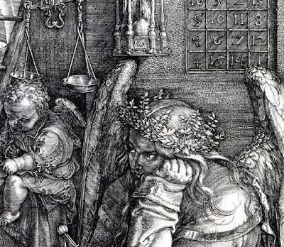 Albrecht Durer. Melencolia I (detail). ca 1514.