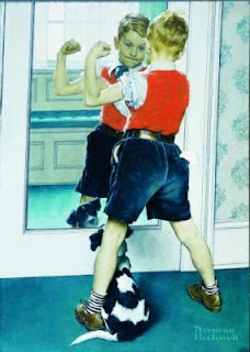 Norman Rockwell. The Muscleman, 1941.