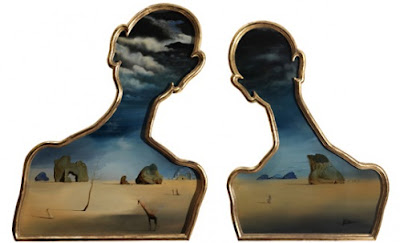 Salvador Dali. A Couple with their Heads Full of Clouds, 1937. © Salvador Dalí, Gala-Salvador Dalí Foundation/BUS, Stockholm 2009.