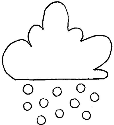 Nube con lluvia para colorear - Imagui