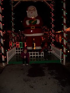 the vast majority of the displays are outdoors so last year when the temps were around freezing it was pretty nippy out there - Bernville Christmas Village
