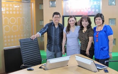 Diana Limjoco with show hosts