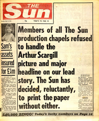 sunsplash The Sun At 40: When Arthur Scargill Was Mein Fuhrer