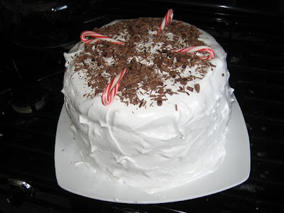 ... Cake: Bon Appetit's Devil's Food Layer Cake with Peppermint Frosting