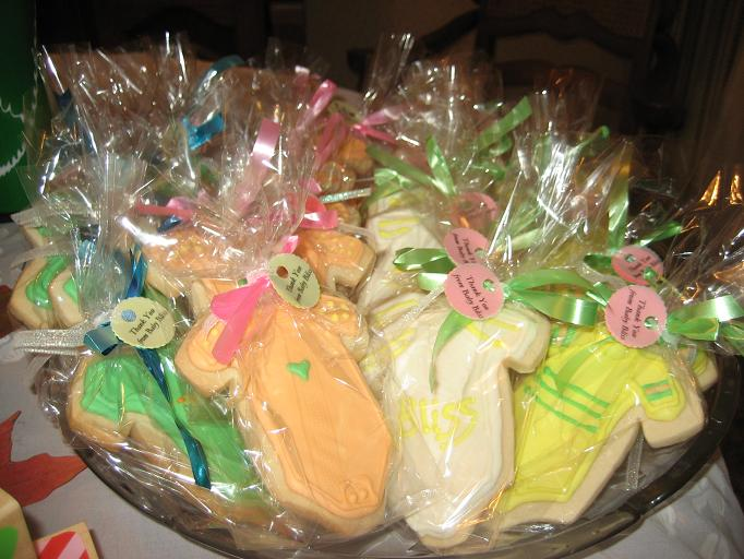 baker 39 s challenge my baby shower favors decorated sugar cookies