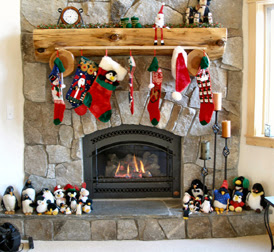 Christmas Story House Fireplace Decoration Ideas