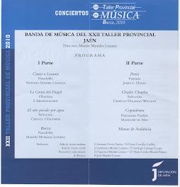 XXII TALLER PROVINCIAL DE MÚSICA - BAEZA 2010 - BANDA PROVINCIAL DE MÚSICA DE JAÉN
