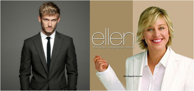 :D Tomorrow Alex (Pettyfer) is going to be on The Ellen Degeneres Show,