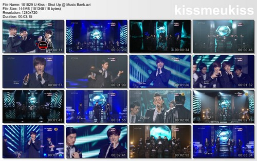 MASTER OF DIAO: [DOWNLOAD] 101029 U-Kiss - Shut Up @ Music Bank