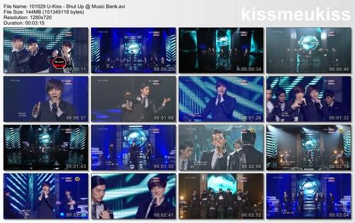 MASTER OF DIAO: [DOWNLOAD] 101029 U-Kiss - Shut Up @ Music Bank