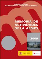 Portada informe 2009 AEMPS