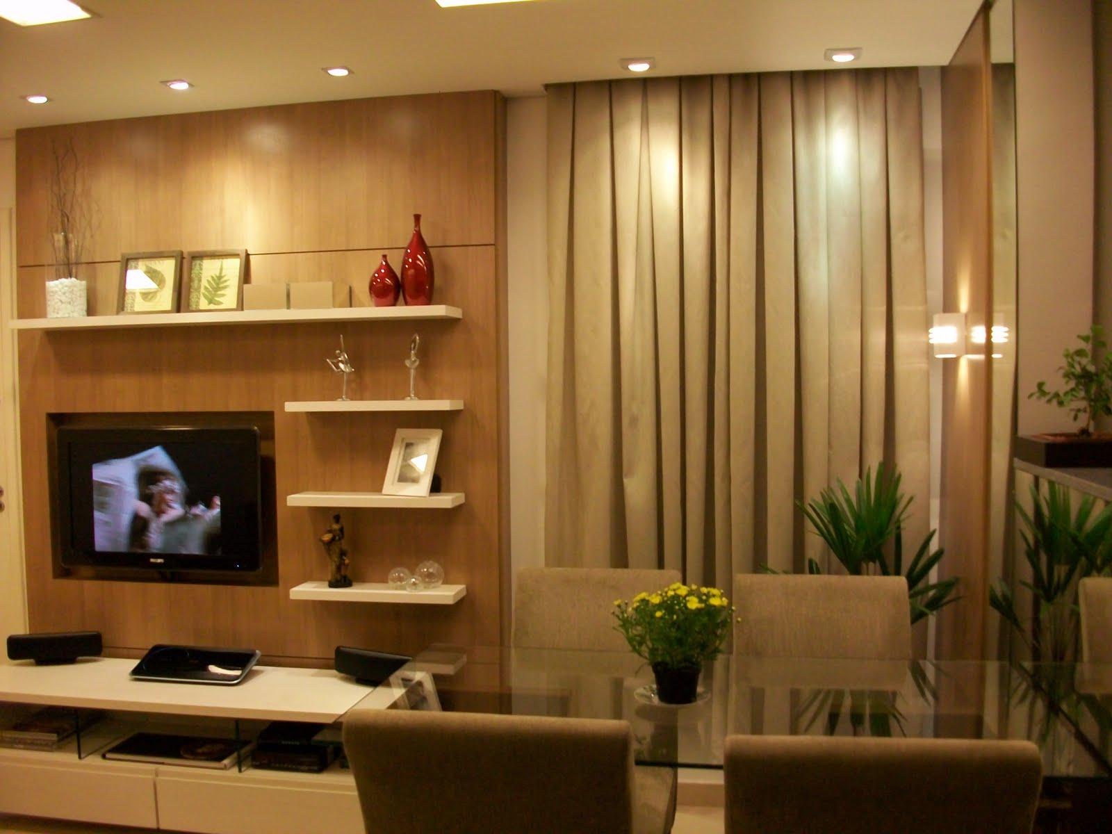 Sala de estar e jantar conjugados. Projeto de mobiliários  #2E1E08 1600 1200