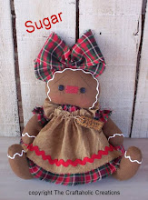 "Sugar ~ 6 1/2"" sitting gingerbread doll (size is sitting position)"