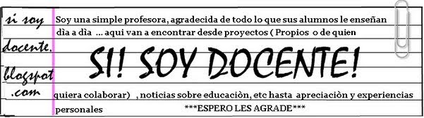Si! Soy docente!