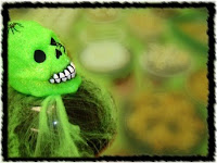 green halloween skeleton wishes