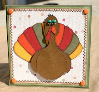 thanksgiving paper turkey card
