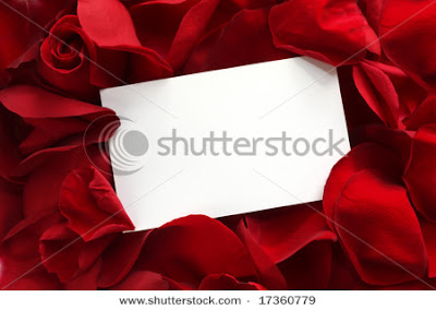 valentine rose petal greetings