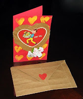 making greeting card for valentine day