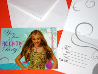 Valentines Day Teen Girl Hannah Montana Card