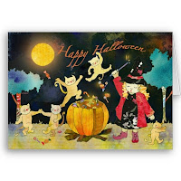 Free magical halloween cards