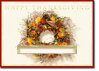 Thanksgiving wreath Cards