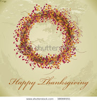 Thanksgiving Wreath Rack Card Template