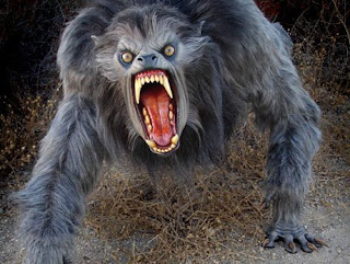 dark horror werewolf wallpaper