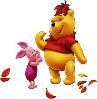 Pooh Piglet fall leaves wallpaper