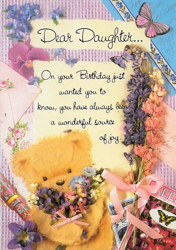Wish her happy birthday through these Daughter Birthday Cards and Greetings.
