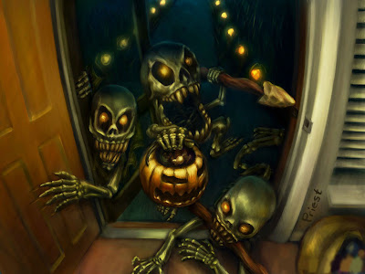 Halloween Horror Greeting Cards