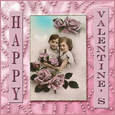 Happy Valentine Children Card