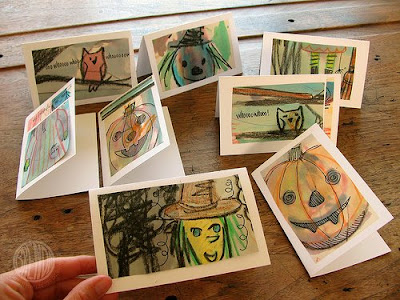 Handmade Halloween Cards Collection