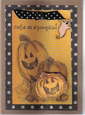 Halloween Paper Greeting Card