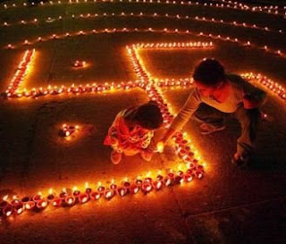 diwali diya lighting picture