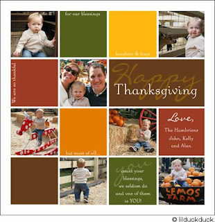 Happy Thanksgiving Personalized Cards