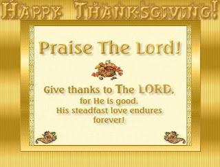 christian thanksgiving prayer card