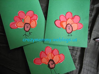 homemade greeting card for thanksgiving