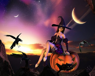 Witchy Night Halloween Wallpaper