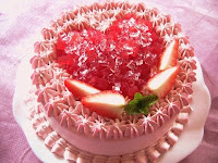 happy valentines day with a cake
