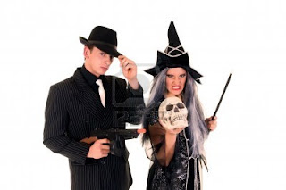 Halloween couple costume wallpaper