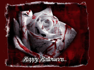 Halloween Blood Roses Wallpaper