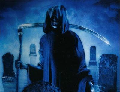 blue halloween demon cards