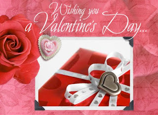red color valentine greetings