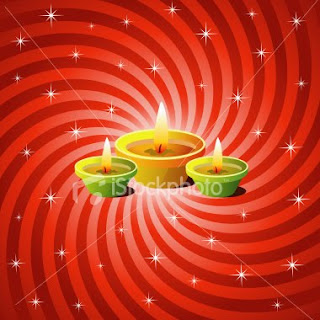 red color diwali background card